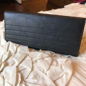 Handbags - Black leather flip wallet